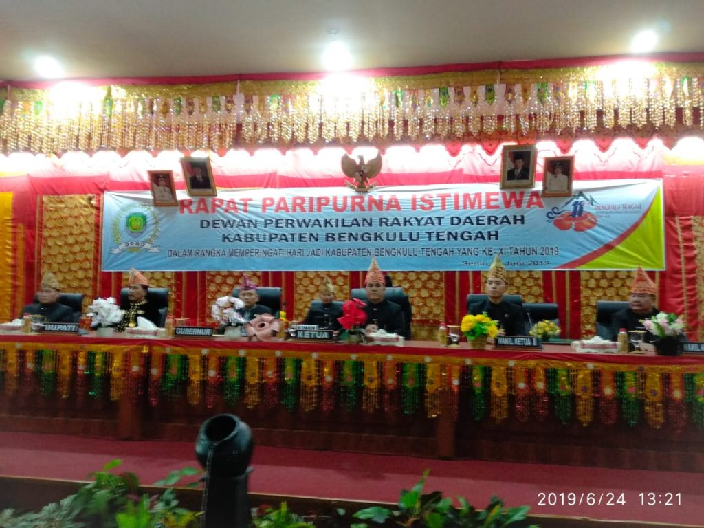 Hut Kabupaten Bengkulu Tengah Ke 11 Tahun Dprd Gelar Rapat Paripurna Istimewa ɍ